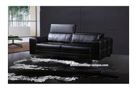canapé cuir noir 2 places canapé en cuir italien 2 places design et pas cher virginia