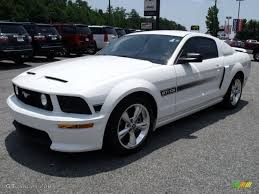 2007 Mustang Gt Black 2007 Performance White Ford Mustang Gt Cs California Special Coupe