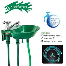 amazon com outdoor sink and faucet fixture built in drinking