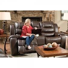 Living Room Recliner Chairs Titan Living Room Reclining Sofa Loveseat Chocolate 71406