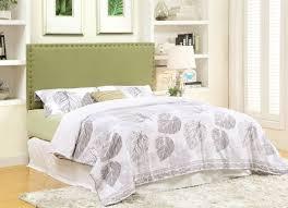 green fabric upholstered headboard caravana furniture