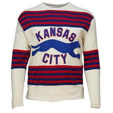 kansas city greyhounds 1934 hockey sweater ebbets field flannels