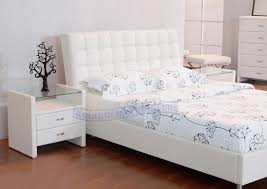 Barcelona Bedroom Furniture Barcelona Style White Leather Match King Bed Padstyle Interior