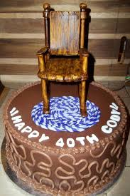 over the hill 40th birthday cake with rocking chair cakecentral com