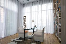 Extra Wide Curtain Rods Long Curtain Rods Home Office Contemporary With Bookshelves