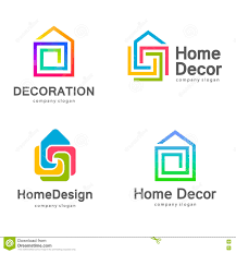 Resale Home Decor by Vector Logo Design Home Decor Decoration Stock Vector Image