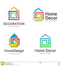vector logo design home decor decoration stock vector image decor decoration design home