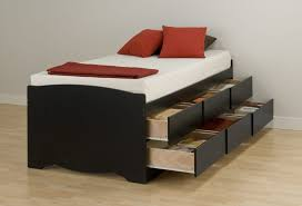Red And Brown Bedroom Bedroom Good Looking Twin Bed Frames With Drawers Made With High