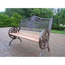 Cast Iron Loveseat Oakland Living Patriotic God Bless America Cast Iron And Wood