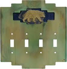 bear light switch covers steppe bear