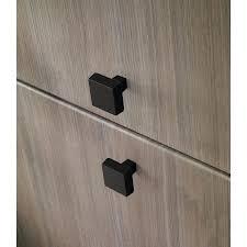 black cabinet door handles lowes brainerd soft modern 1 22 in matte black square modern cabinet knob