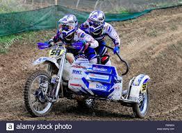 sidecar motocross racing fim sidecar world championship 2015 rudersberg motocross stock
