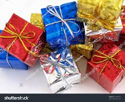 shiny wrapping paper colorful gift boxes shiny wrapping paper stock photo 17460037