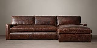 Maxwell Sofa Restoration Hardware Petite Maxwell Leather Sectionals Rh