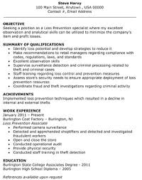 Security Specialist Resume Loss Prevention Specialist Resume The Resume Template Site