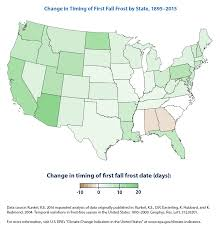 Map Of The Eastern United States by Climate Change Indicators Length Of Growing Season Climate