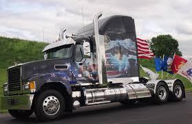 american flag truck volvo mack honor service members with memorial day tribute trucks