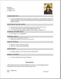 standard resume format for engineering freshers pdf to excel student resume pdf carbon materialwitness co