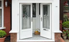 Black Upvc Patio Doors Glass Window Options Decorative Stained Etched Bevelled