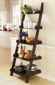 kitchen bookshelf ideas different way to use ladder bookshelf in the kitchen to store