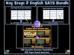 key stage 2 english spag sats revision powerpoint quiz