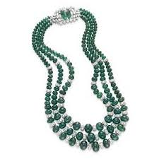 bead diamond necklace images An emerald bead and diamond necklace jewelry auction nec out=j