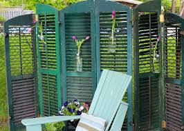 shutter privacy screen screens gardens and backyard