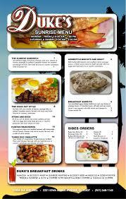 duke u0027s bar and grill breakfast menu riverside ca