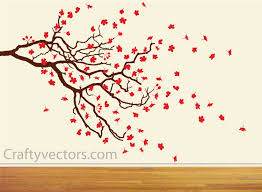 spring cherry blossom and branch svg cut file zoom