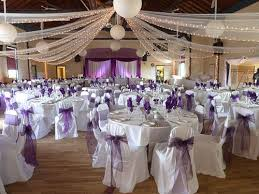 wedding reception chair covers purple and turquoise wedding reception the wedding flowers as