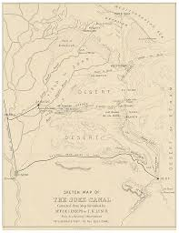 file 1866 sketch map of the suez canal jpg wikimedia commons