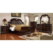 furniture of america goodwell traditional brown cherry 3 drawer