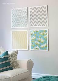 blue home decor fabric wall art designs framed fabric wall art making panels blue
