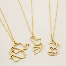 animal gold necklace images Origami necklace archives the treasure hunter jpg