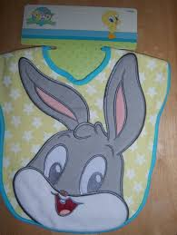 looney tunes applique bib bugs bunny tweety taz baby