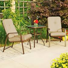 Bistro Patio Table And Chairs Mainstays Lawson Ridge 3 Piece Outdoor Bistro Set Seats 2