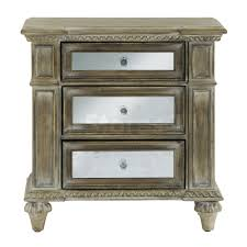 grey wooden nightstands having glass drawer with grey wooden frame