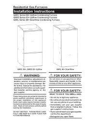 nordyne g6rc 90 furnace user manual