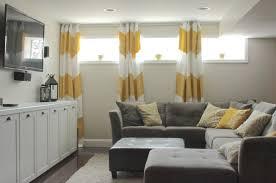 extravagant basement window curtains basement window coverings