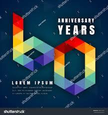 celebrating 60 years birthday anniversary emblems celebration logo 60th birthday stock vector
