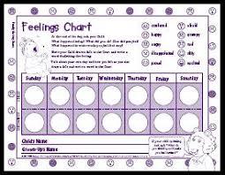 feeling charts feelings chart free behavior charts