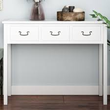 robinwood 3 drawer console table cream colored console table wayfair