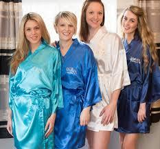 bridesmaid satin robes satin robe for bridesmaids by the lovebird