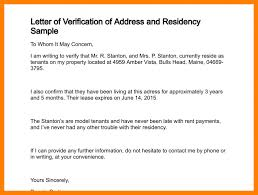 5 proof of address letter template format of notice