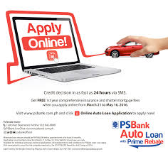 apply now for a psbank auto loan online and get freebies