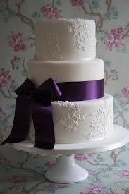 beautiful bridal purple and white wedding cakes