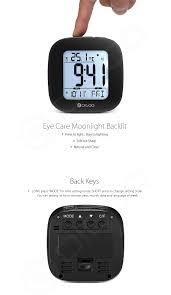 wall mounted digital alarm clock digoo dg c1 multifunctional electronical digital alarm clock