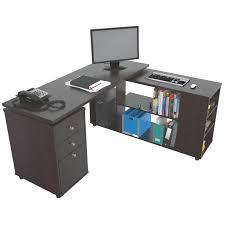 Computer Desk L Shaped Latitude Run Toby L Shape Computer Desk Reviews Wayfair