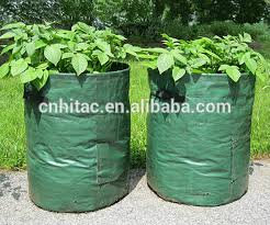 Patio Potato Planters Reusable Patio Round Plastic Potato Planting Bag Potato Growing