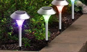 Solar Outdoor Light Fixtures by Outdoor Lighting Deals U0026 Coupons Groupon